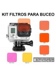Comprar Pack 5 Filtros Sumergibles para Gopro Hero 3/4