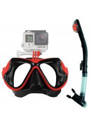 Comprar Máscara de Buceo para Gopro Hero 3/3+/4 y Action Cam con Snorkel y funda